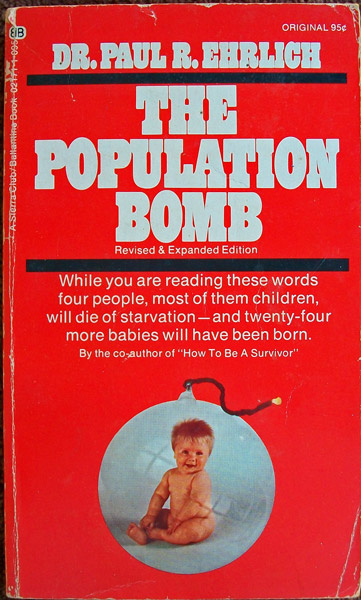 a review of ehrlichs population bomb Ehrlich was right about one thing: the world's population has continued to expand today, the global population stands at 76 billion that's double the 38 billion when ehrlich published the population bomb and yet, despite ehrlich's predictions, no devastating famine threatening humanity's existence ever ensued.